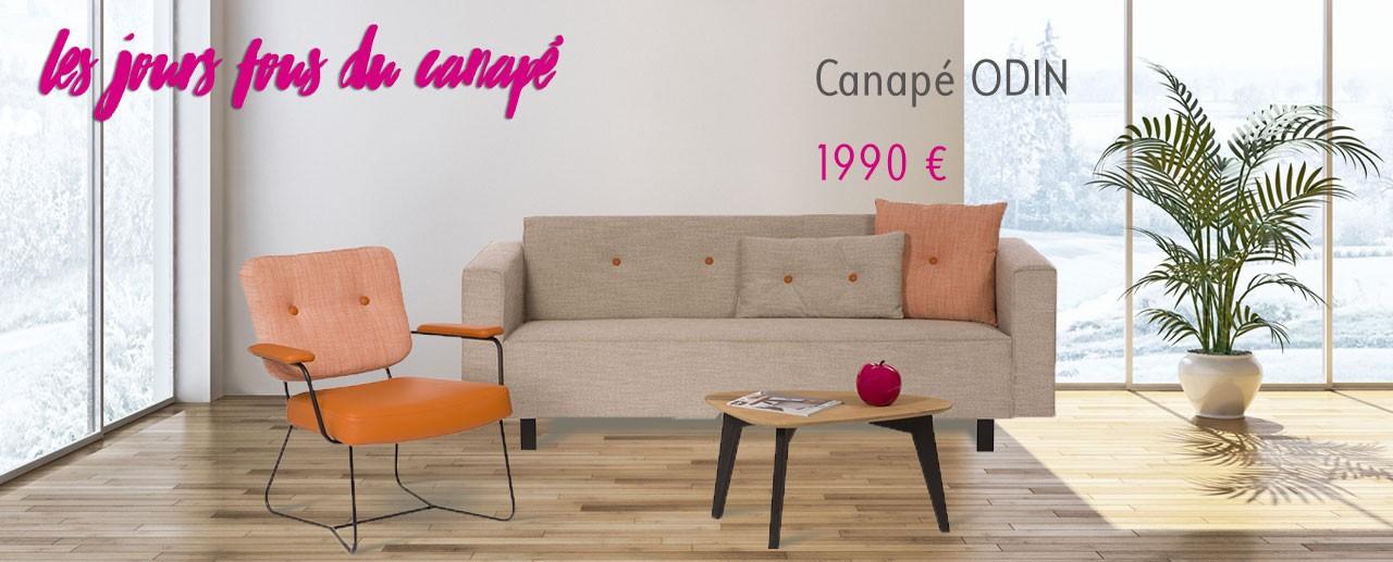 Canapé tissu ODIN