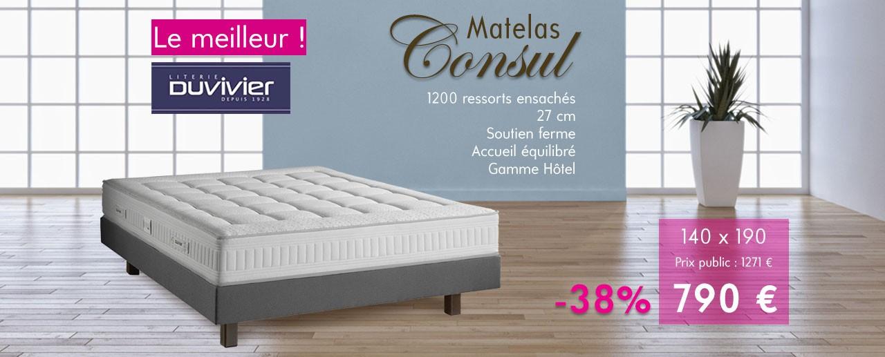 Matelas Consul par Duvivier