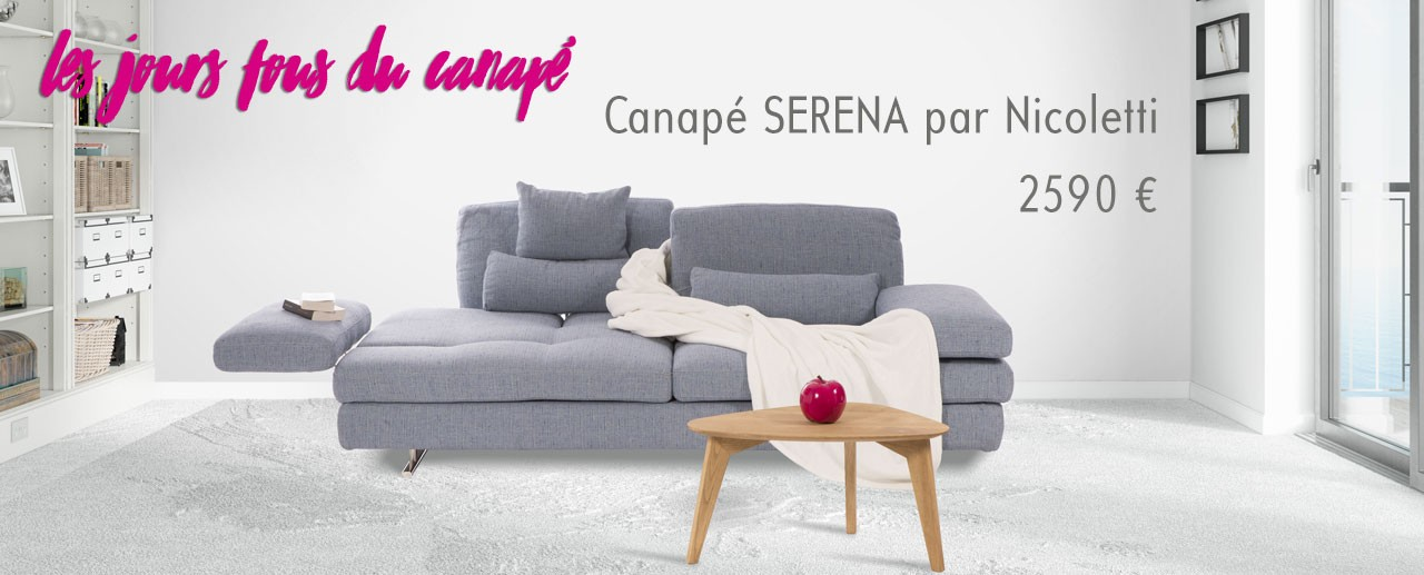 Canapé Serena par Nicoletti